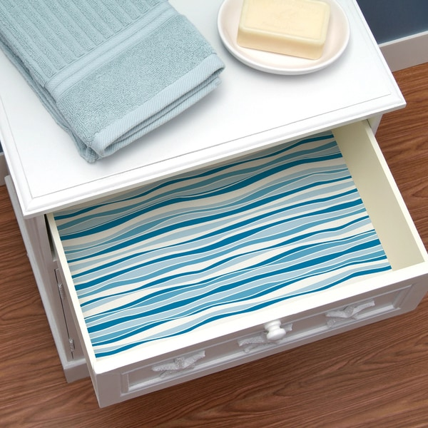 Con Tact Brand Creative Covering Self Adhesive Shelf And Drawer Liner Wave Marina On Free Shipping Orders Over 45 10165486