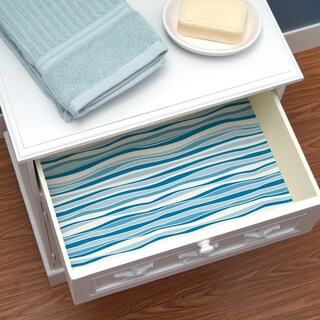 Con-Tact Brand Creative Covering Self-Adhesive Shelf and Drawer Liner Wave Marina (2 options available)