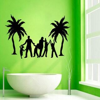 Family and Palm Tree Vinyl Sticker Wall Art