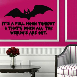 Halloween Bat Vinyl Sticker Wall Art