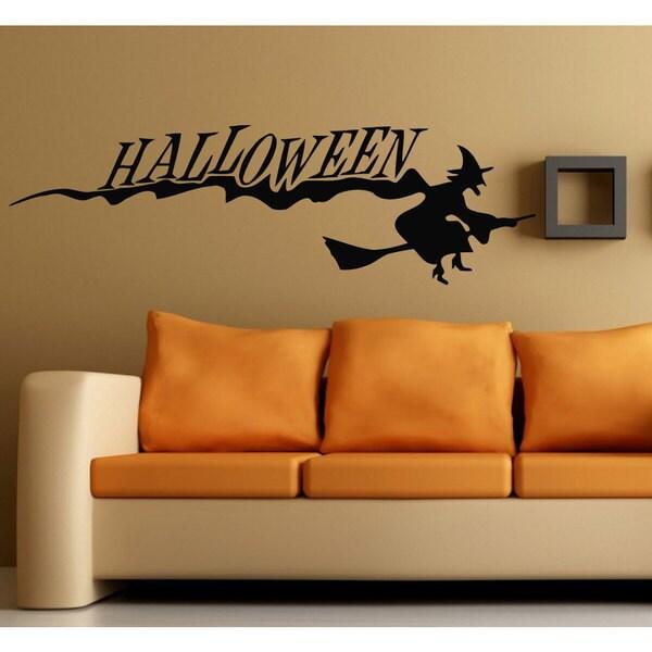 Halloween Wall Art halloween witch vinyl sticker wall art - free shipping on orders