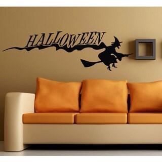 Halloween Witch Vinyl Sticker Wall Art