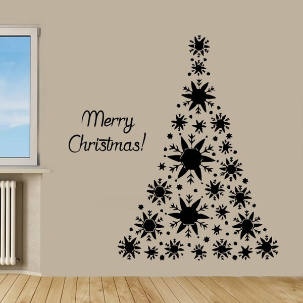 merry christmas sticker wall art free shipping on orders snowman christmas winter decoration vinyl sticker decal
