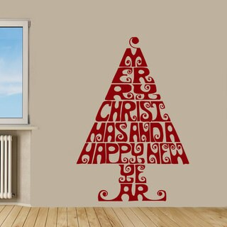 Christmas Tree Vinyl Sticker Wall Art