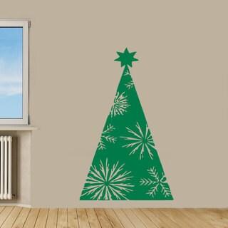 Vinyl Christmas Tree Wall Art