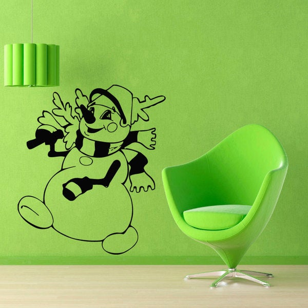 Snowman Vinyl Sticker Wall Art