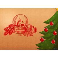 Merry Christmas Holiday Vinyl Sticker Wall Art