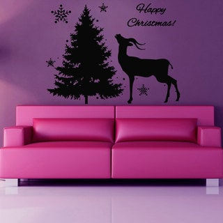 Holiday Merry Christmas Vinyl Sticker Wall Art