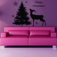 Holiday Merry Christmas Vinyl Sticker Wall Art