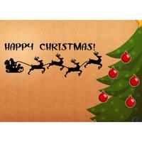 Merry Christmas Vinyl Holiday Sticker Wall Art