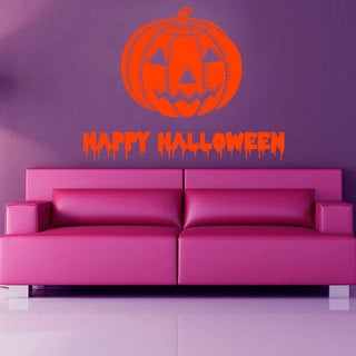Happy Halloween Pumpkin Vinyl Sticker Wall Art