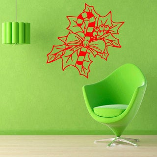 Candy Cane Vinyl Sticker Wall Art
