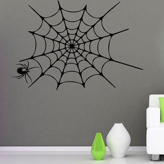 Spider and Web Vinyl Sticker Wall Art