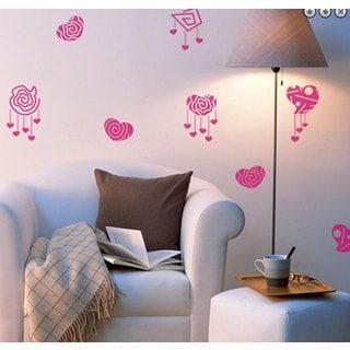 Love Hearts Vinyl Sticker Wall Art