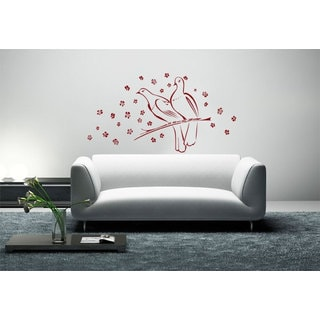 Pair Doves Vinyl Sticker Wall Art