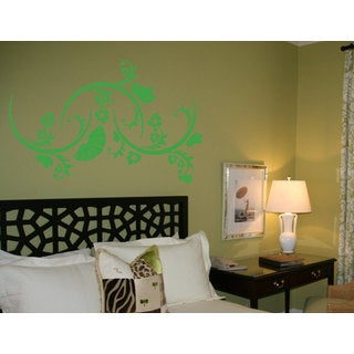 Flower Swirls Vinyl Sticker Wall Art