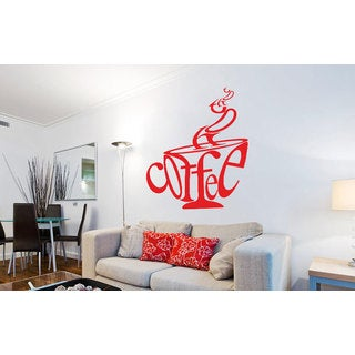 Coffee Cup Vinyl Sticker Wall Art