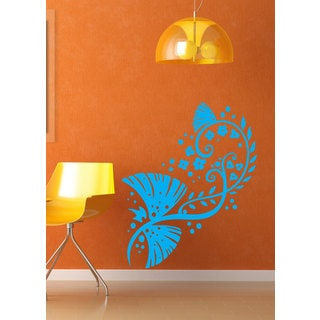 Swirly Flowers Vinyl Sticker Wall Art