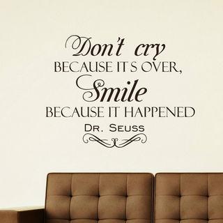 Dr. Seuss Quote Vinyl Sticker Wall Art