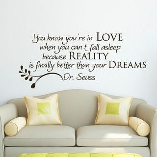 Dr Seuss Quote Vinyl Sticker Wall Art