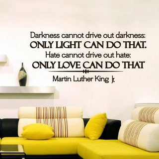Martin Luther King Quote Vinyl Sticker Wall Art