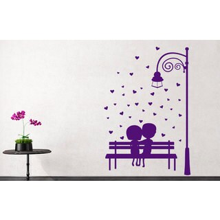 Cute Romantic Couple Vinyl Sticker Wall Art