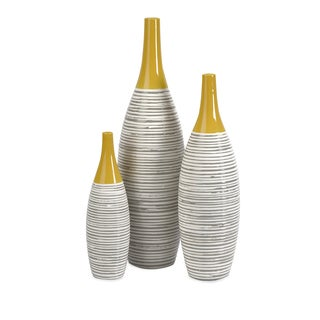 Carson Carrington Risor Multi Glaze Vases (Set of 3)