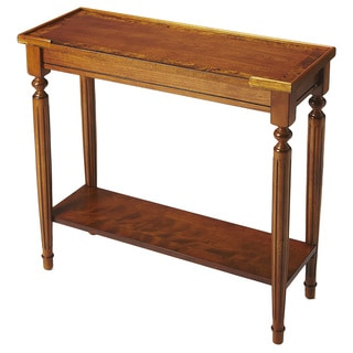 Butler Specialty Simple Wood Burl Console Table