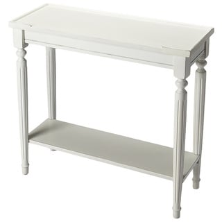 Butler Specialty Simple Cottage White Console Table