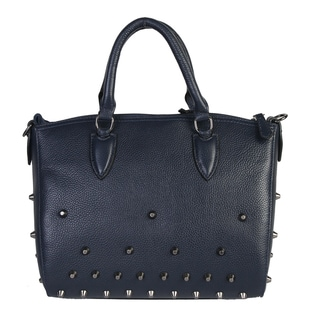 Mllecoco Leather Studded Structure Handbag