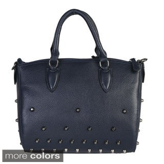 Mllecoco Leather Studded Structure Handbag - L