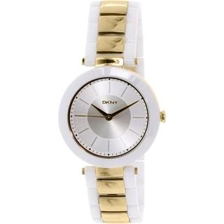 DKNY Women's Stanhope NY2289 White Ceramic Quartz Watch