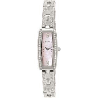 Bulova Women's Crystal 96L208 Stainless Steel Quartz Watch|https://ak1.ostkcdn.com/images/products/10166619/P17294894.jpg?impolicy=medium