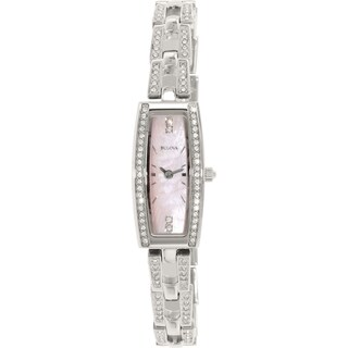 Bulova Women's Crystal 96L208 Stainless Steel Quartz Watch