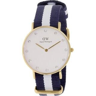 Daniel Wellington Women's Glasgow 0953DW White Cloth Quartz Watch