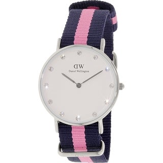 Daniel Wellington Women's Winchester 0962DW White Cloth Quartz Watch