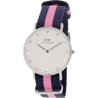 Daniel Wellington Women's Winchester White Cloth Quartz Watch