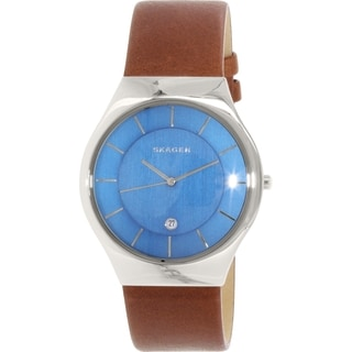Skagen Men's Grenen SKW6160 Brown Leather Quartz Watch