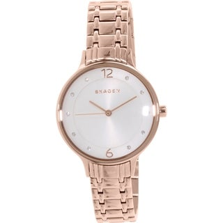Skagen Women's SKW2323 Anita Diamond Silver Dial Rose-Tone Gold Stainless Steel Bracelet Watch
