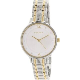 Skagen Women's SKW2321 Diamond Silver Dial Two-Tone Stainless Steel Bracelet Watch