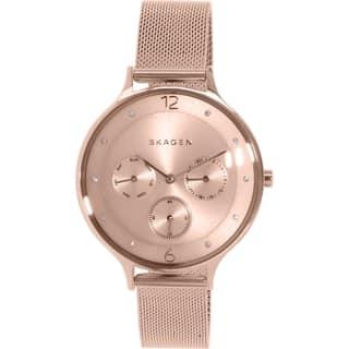 1a00145ded5 Skagen Women s Anita SKW2314 Rose-goldtone Stainless Steel Quartz Watch