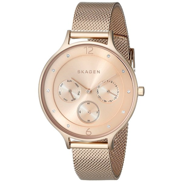 Skagen Women's Anita SKW2314 Rose-goldtone Stainless Steel Quartz Watch