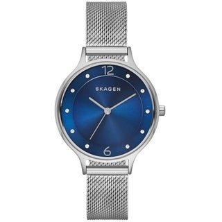 Skagen Women's SKW2307 Anita Diamond Blue Dial Stainless Steel Mesh Bracelet Watch