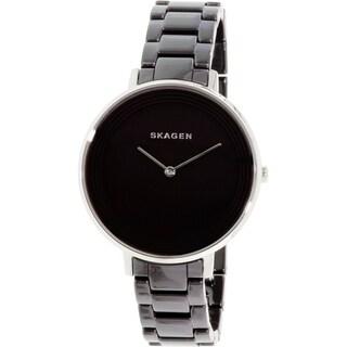 Skagen Women's Ditte Black Ceramic Quartz Watch