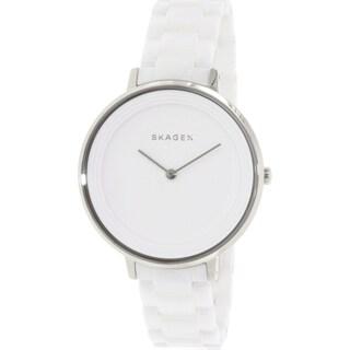 Skagen Women's Ditte SKW2300 White Ceramic Quartz Watch