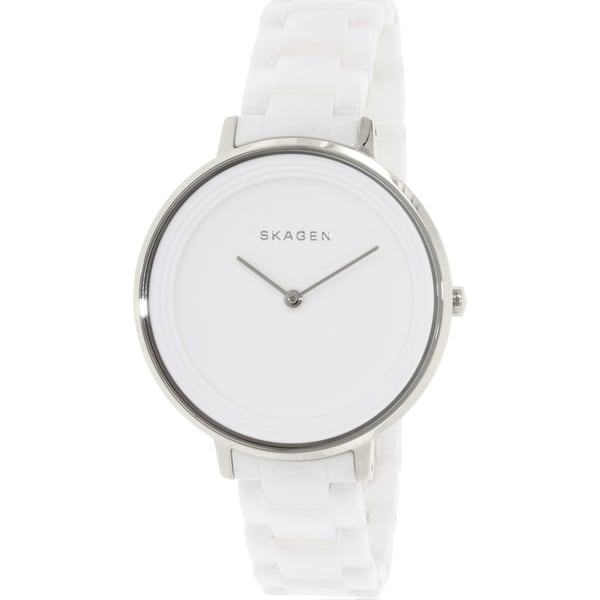 Shop Skagen Women's Ditte SKW2300 White Ceramic Quartz Watch - Free Shipping Today - Overstock - 10166694