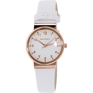 Skagen Women's Ancher SKW2290 Rose-gold Leather Quartz Watch