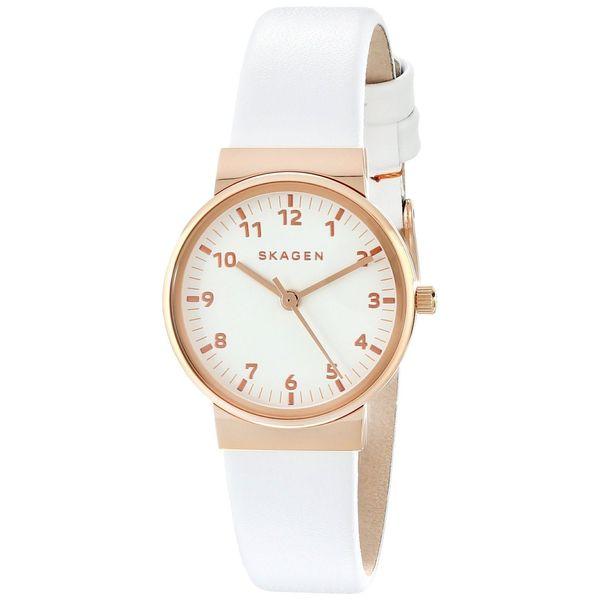 Skagen Women's Ancher SKW2290 Rose-gold Leather Quartz Watch