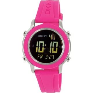 DKNY Women's Tompkins NY2324 Pink Rubber Quartz Watch