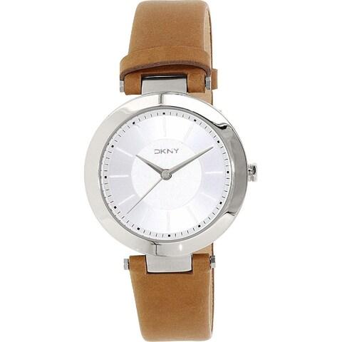 DKNY Women's Stanhope NY2293 Brown Leather Quartz Watch